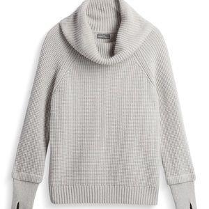 Market & Spruce Thumbhole Cowlneck Sweater